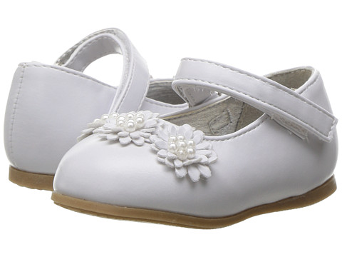 Josmo Kids 50206 Flower Toe Mary Jane (Infant/Toddler) - White PU