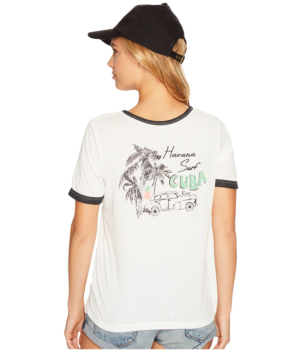 Roxy Puerto Pic Cuba Times Shirt (Marshmallow) Women