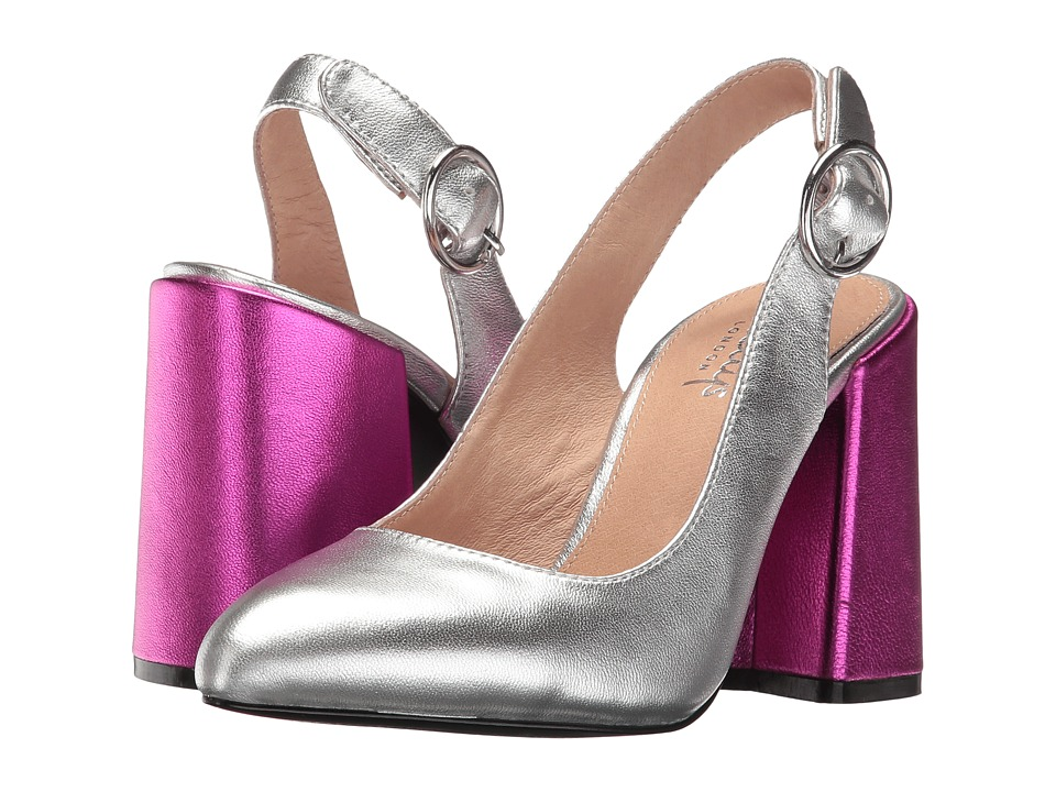 Shellys London Chester (Silver Leather) High Heels