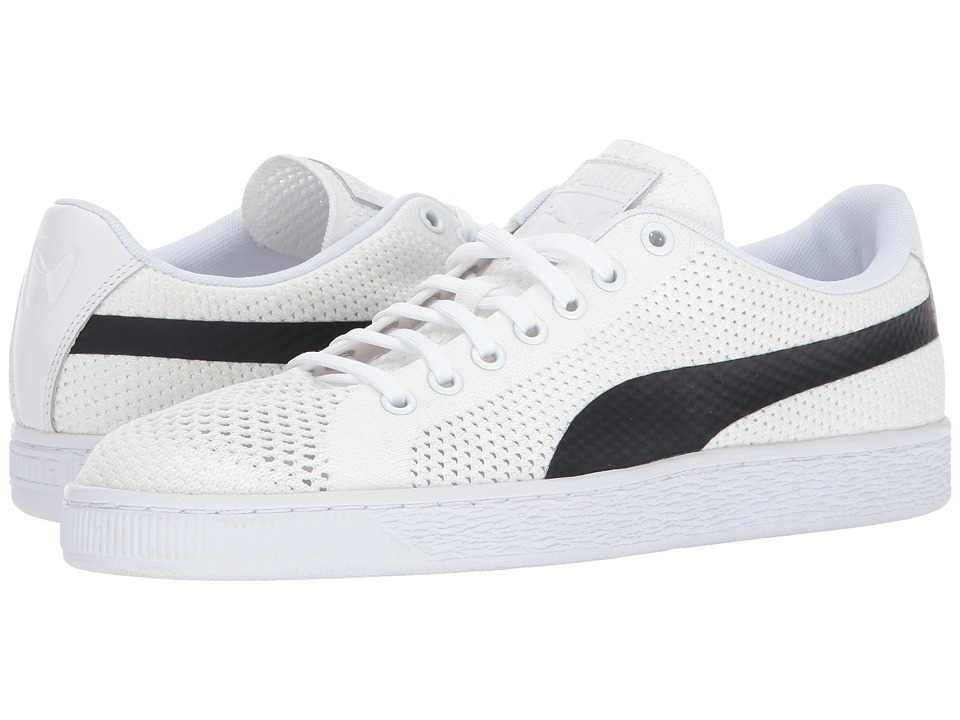 PUMA - Basket Classic Evoknit (Puma White/Puma Black) Mens Shoes
