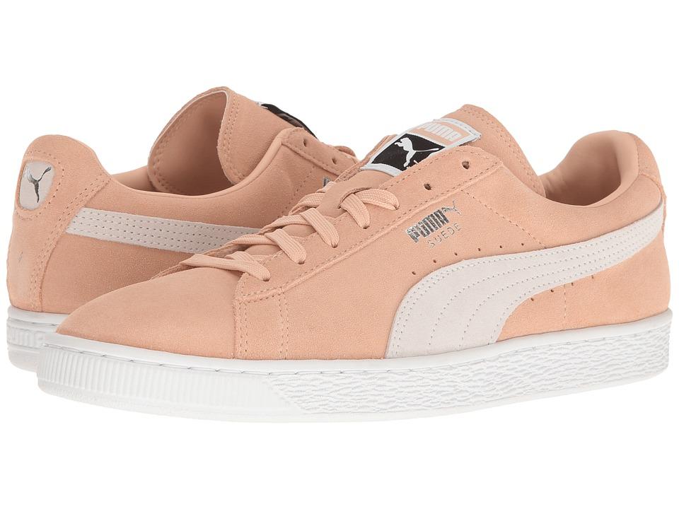 PUMA - Suede Classic + (Natural Vachetta/Puma White) Mens Shoes