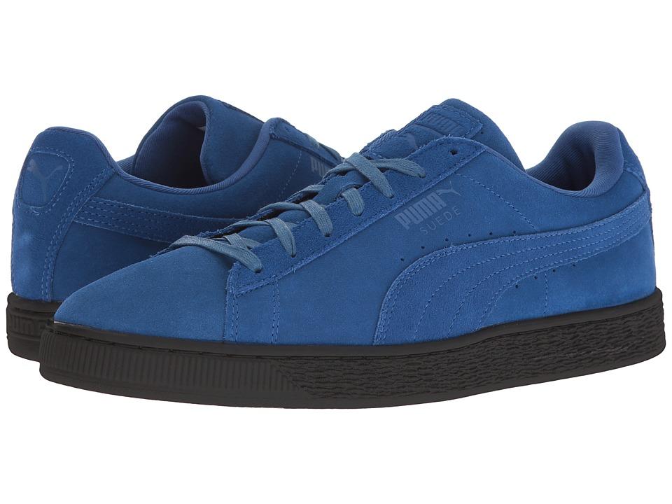 PUMA - Suede Black Sole (True Blue/Puma Black) Men's Shoes
