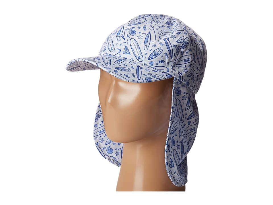 San Diego Hat Company Kids - CTK4195 All Over Sublimated Novelty Print Cap w/ Elastic Stretch Fit Extended Neck Flap (Toddler/Little Kids/Big Kids) (White/Blue) Caps