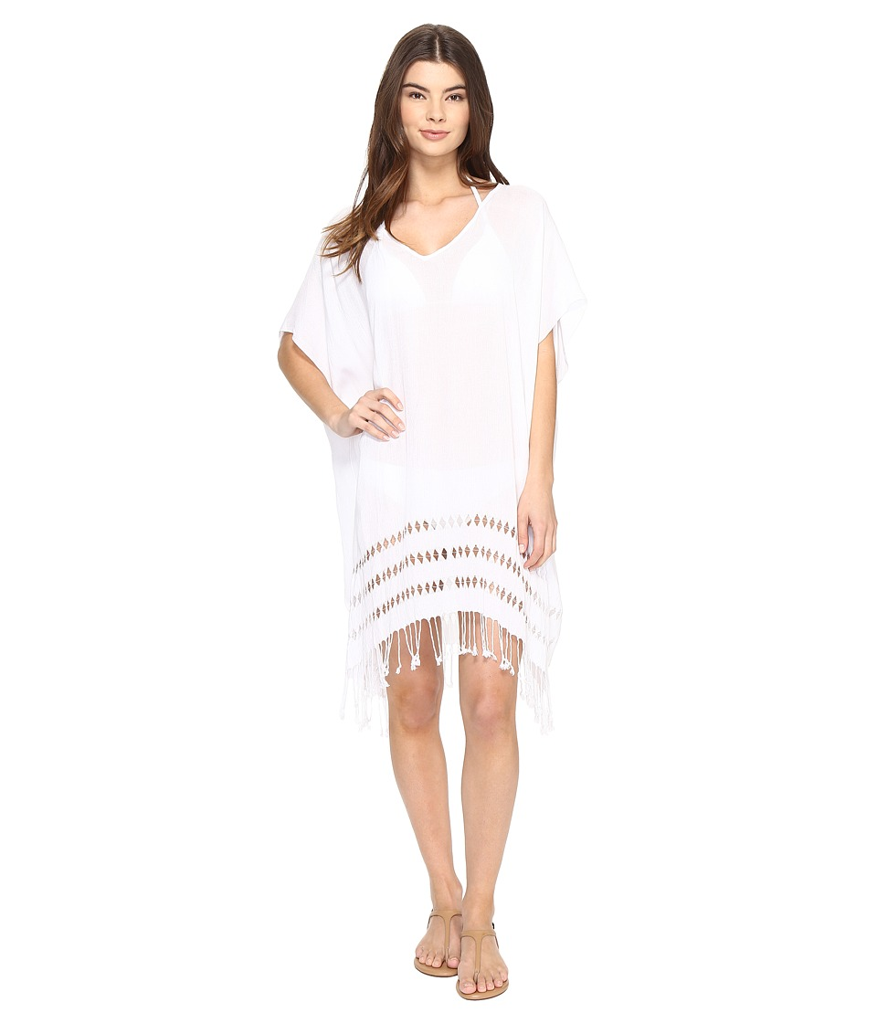 San Diego Hat Company - BST1703 Viscose Tunic w/ Drop Stitch (White) Womens Clothing