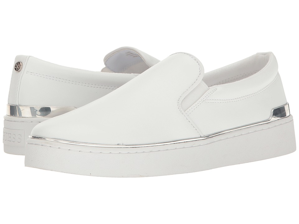 GUESS - Deanda (White) Womens Slip on  Shoes