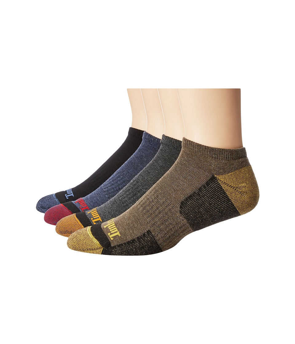 Timberland - Comfort No Show 4-Pack Socks (Assorted Black/Charcoal/Bark/Navy) Men's Crew Cut Socks Shoes
