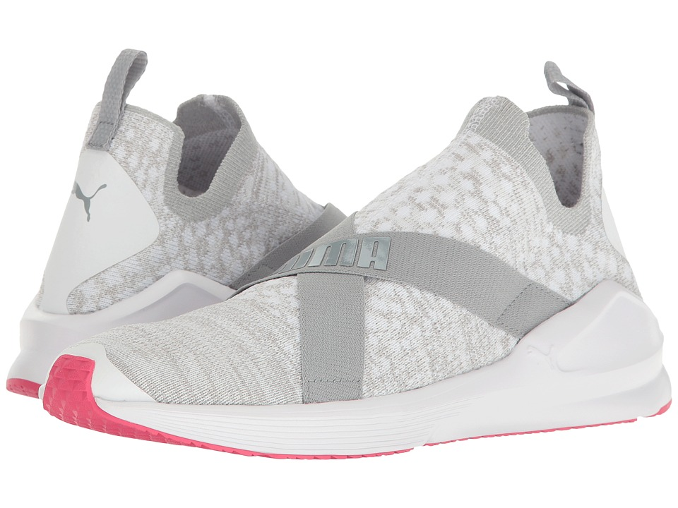 PUMA Fierce Evoknit (Puma White/Quarry/Sparkling Cosmo) Women
