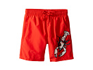 Vilebrequin Kids Lobster Embroidery Swim Trunk (Big Kids)