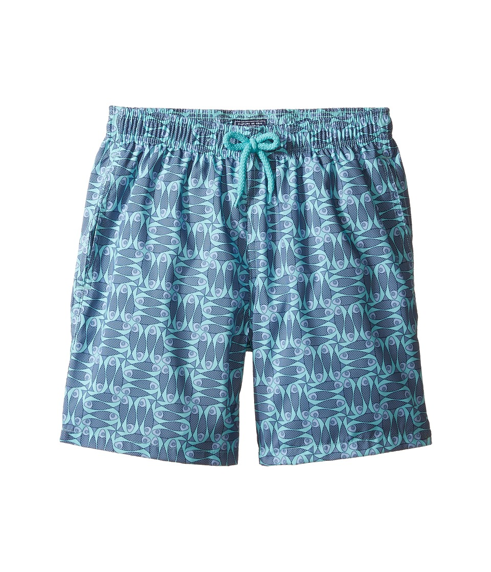 Vilebrequin Kids - Sashimi Check Fishes Swim Trunk