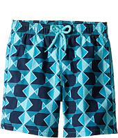 Vilebrequin Kids - Graphic Fish Swim Trunk (Big Kids)