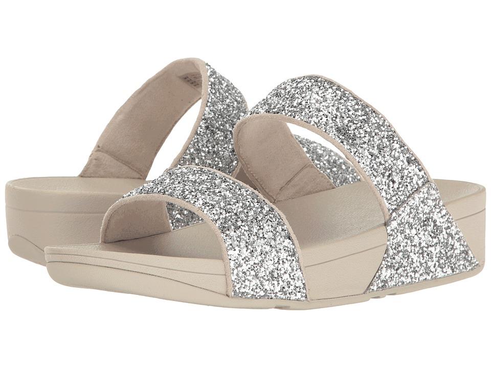 FitFlop Glitterball Slide (Silver) Women