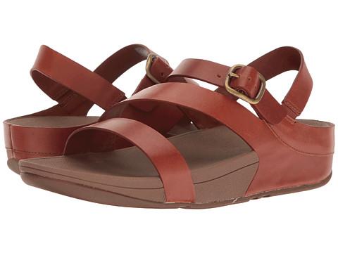 FitFlop The Skinny Z-Cross Sandal - Dark Tan
