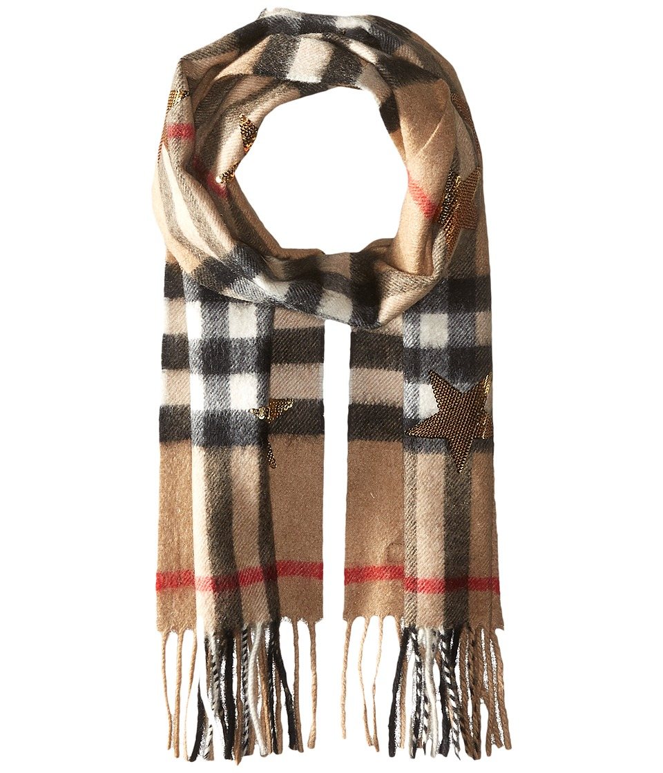 Burberry Kids - Sequin Star Scarf (Little Kids/Big Kids) (Camel/Gold) Scarves