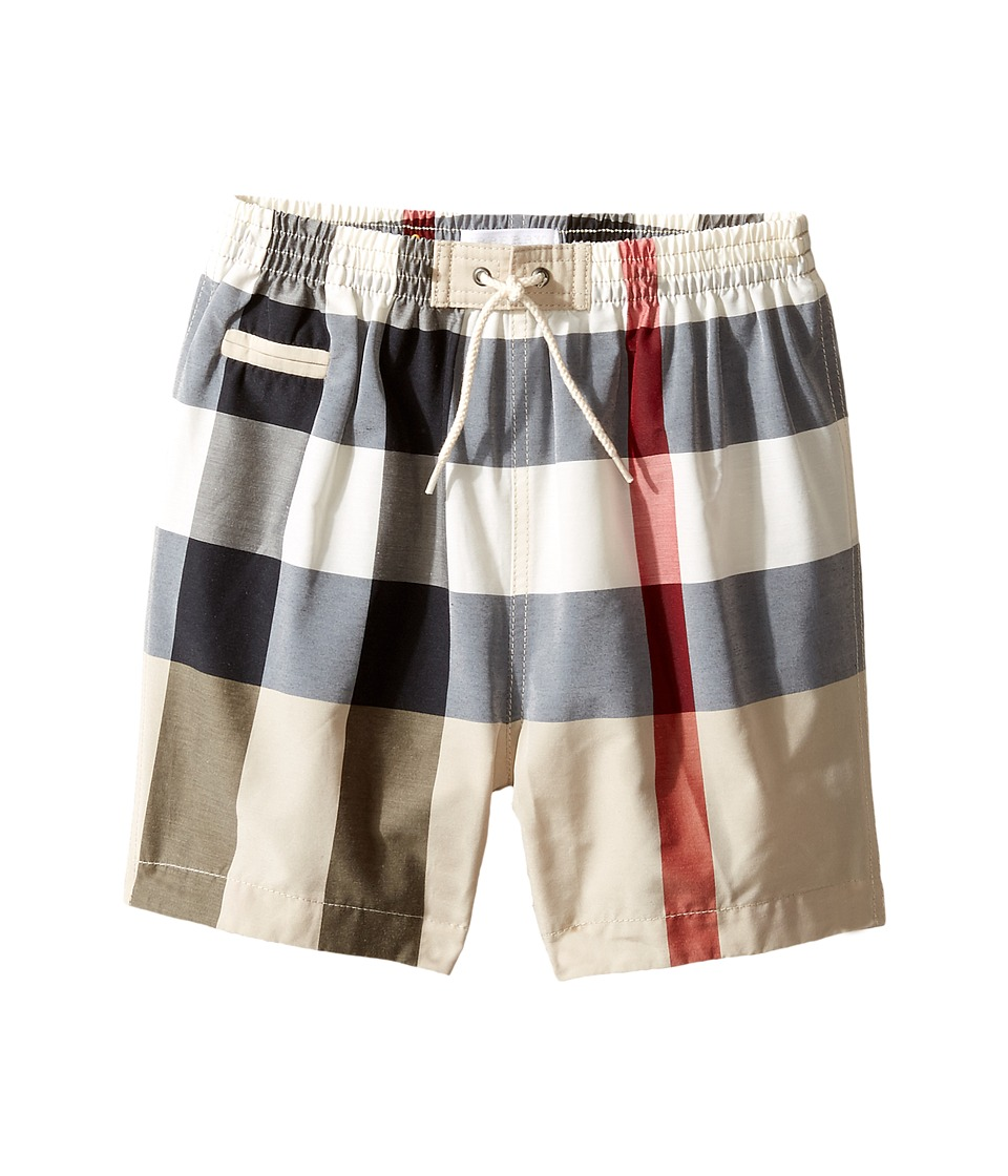 Burberry Kids - Saxon Swim Trunk (Infant/Toddler) (New Classic Check) Boys Swimwear