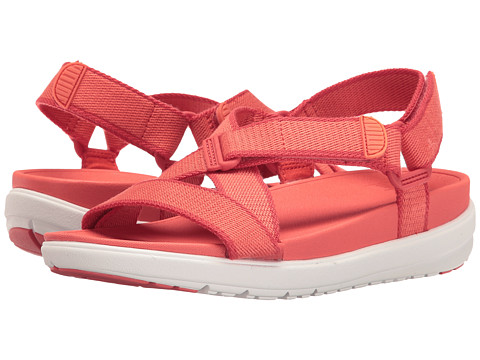FitFlop Sling Sandal II - Hot Coral/Shell Pink