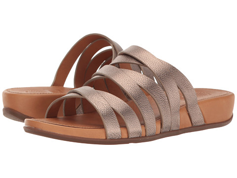 FitFlop Lumy Leather Slide - Bronze