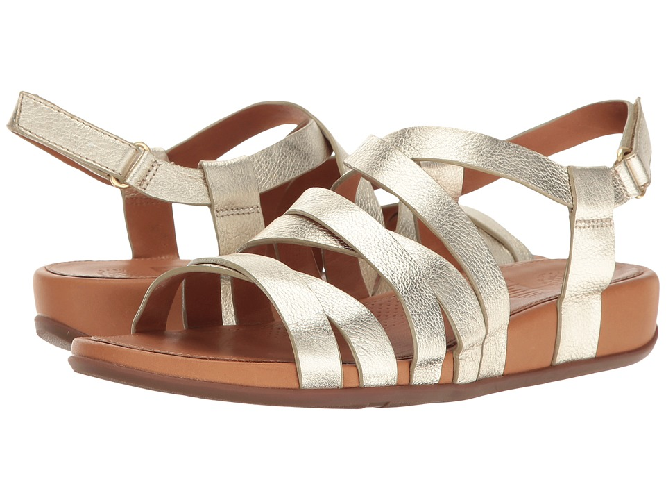 FitFlop Lumy Leather Sandal (Pale Gold) Women