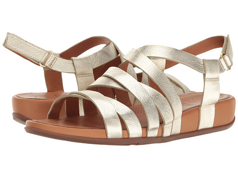 FitFlop Lumy Leather Sandal - Pale Gold