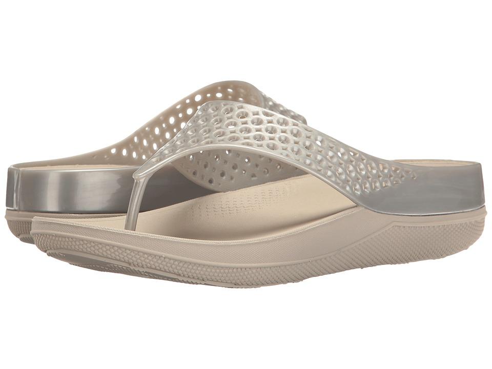 FitFlop Ringer Welljelly Flip-Flop (Silver) Women's Sandals
