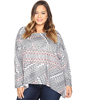 Nally & Millie - Plus Size Aztec Print Top