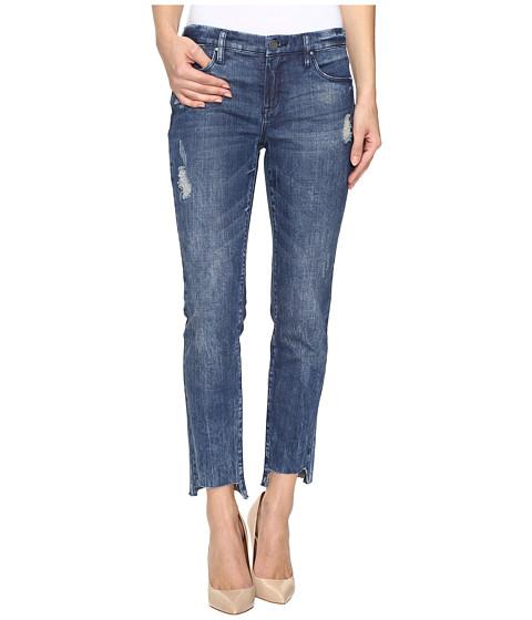 Blank NYC Cropped Denim Distressed Skinny Raw Hem Jeans in Club Kid - Club Kid