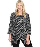 Nally & Millie - Plus Size Tile Print Tunic