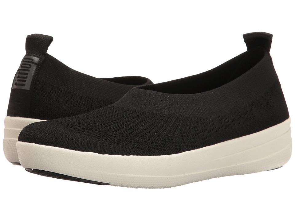 FitFlop Uberknit Slip-On Ballerina (Black) Slip-On Shoes