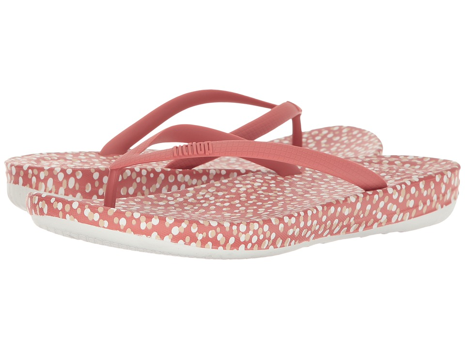 FitFlop Iqushion Ergonomic Bubbles Flip-Flop (Rosy Bubbles) Women