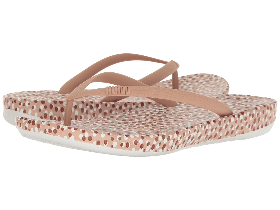 FitFlop Iqushion Ergonomic Bubbles Flip-Flop (Nude Bubbles) Women