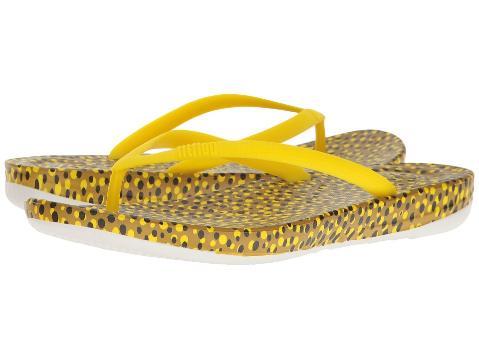 FitFlop Iqushion Ergonomic Bubbles Flip-Flop (Yellow Bubbles) Women