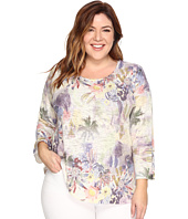 Nally & Millie - Plus Size Island Tropical Print Tunic