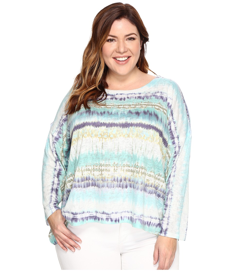 Nally & Millie Plus Size High-Low Sweater (Multi) Women