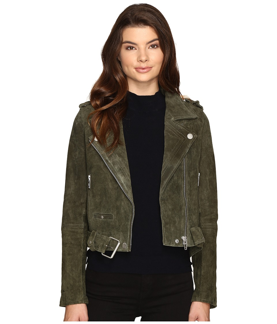 Blank NYC - Real Suede Moto Jacket in Olive Juice (Olive ...