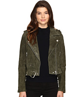 Blank NYC - Real Suede Moto Jacket in Olive Juice