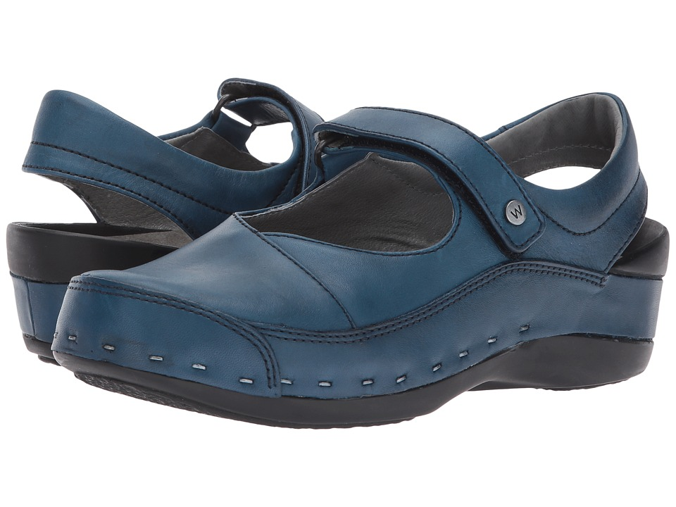 Wolky Strap-Cloggy (Blue) Women's Shoes