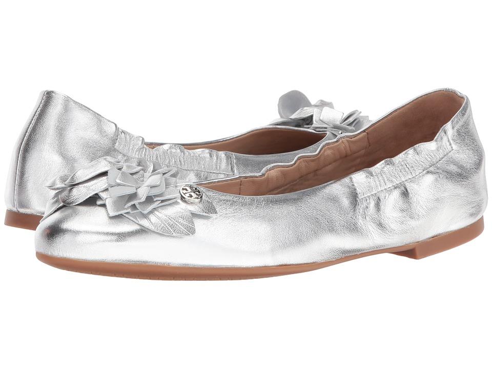 Tory Burch Blossom Ballet (Silver) Women