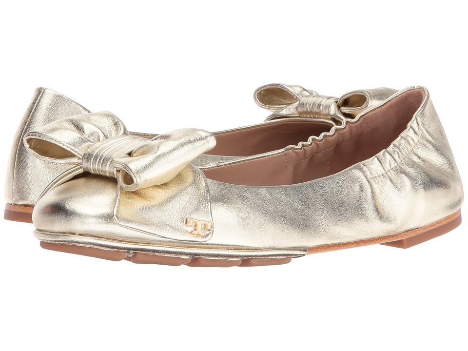Tory Burch Divine Bow Driver Ballet (Spark Gold) Women