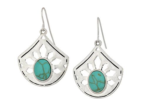 The Sak Pierced Stone Drop Earrings - Turquoise