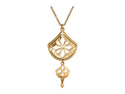The Sak Pierced Double Pendant Necklace 18
