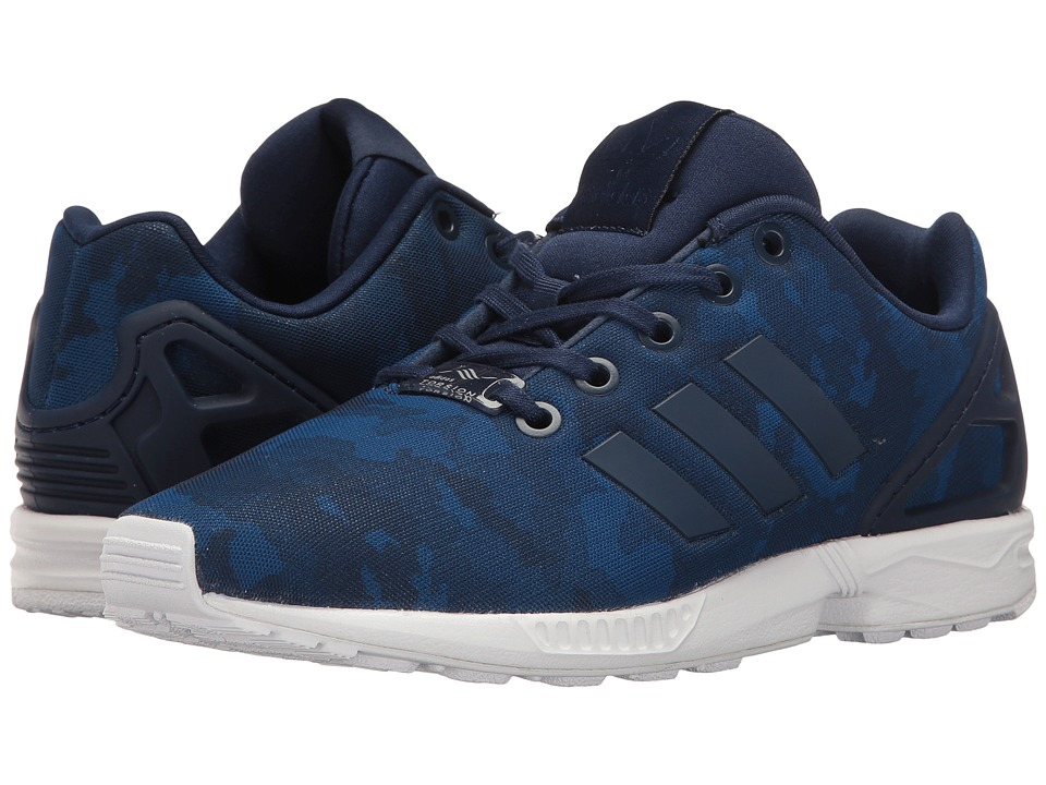 adidas Originals Kids ZX Flux (Big Kid) (Collegiate Navy/Collegiate Navy/Footwear White) Boys Shoes
