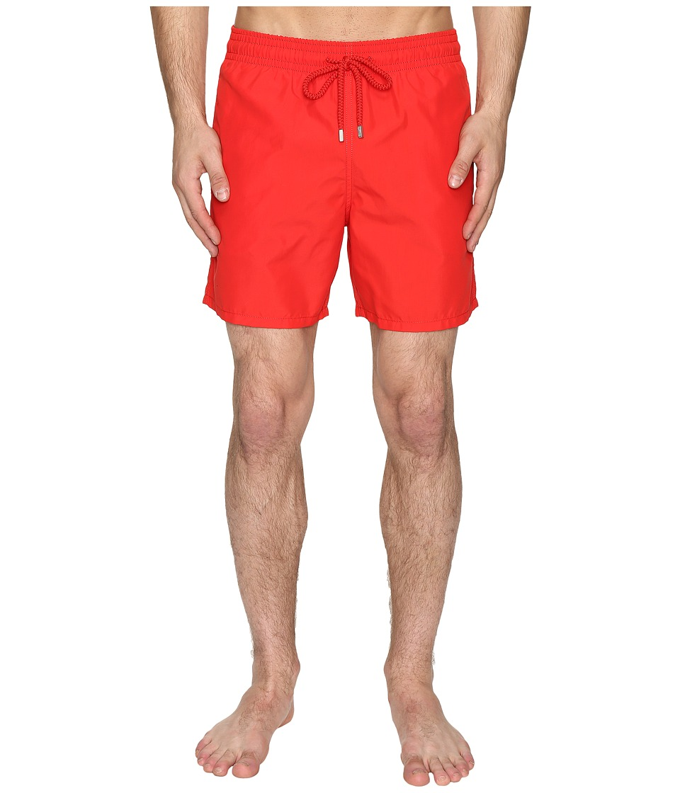 Vilebrequin Moorea Classic Solid Swim Trunk (Red) Men's S...
