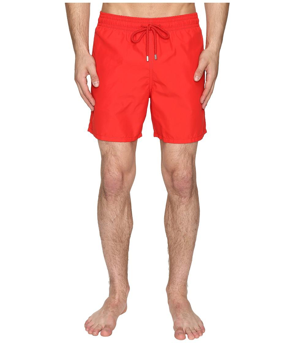 Vilebrequin Moorea Classic Solid Swim Trunk (Red) Men