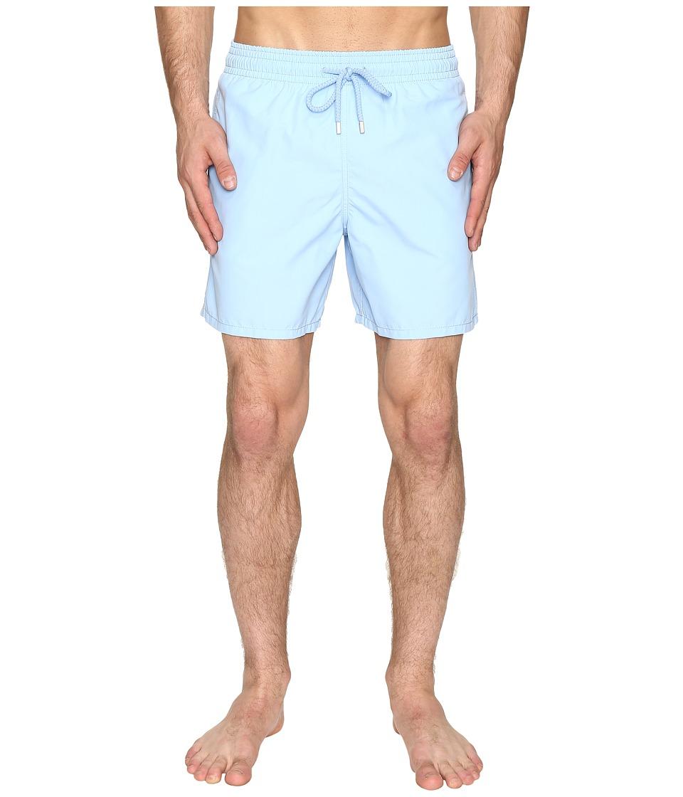 Vilebrequin Moorea Classic Solid Swim Trunk (Light Blue) Men