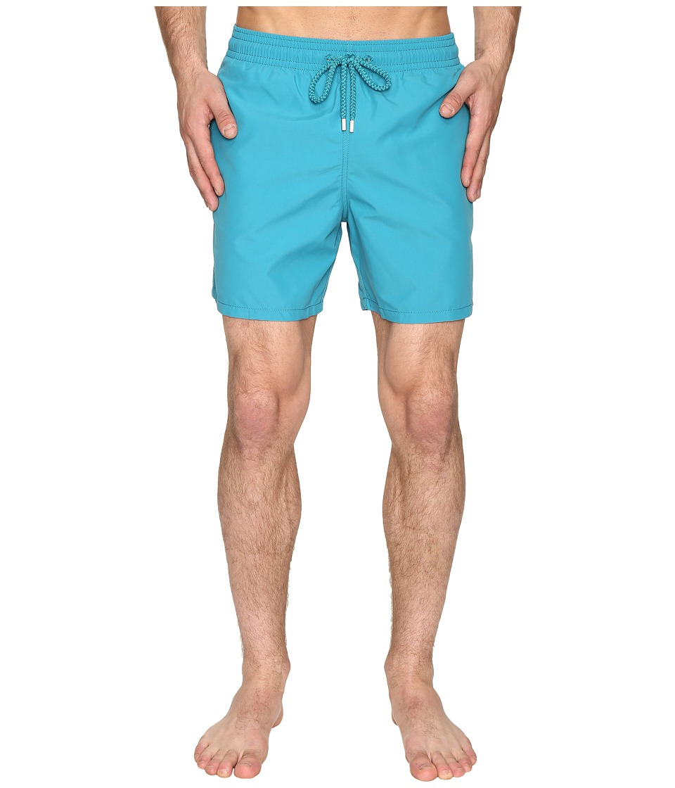Vilebrequin Moorea Classic Solid Swim Trunk (Blue) Men's ...