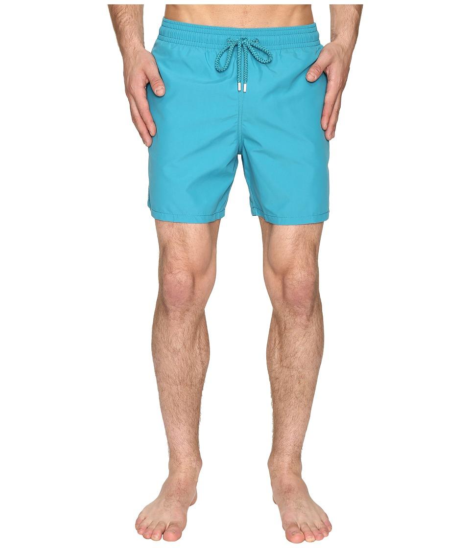 Vilebrequin Moorea Classic Solid Swim Trunk (Blue) Men
