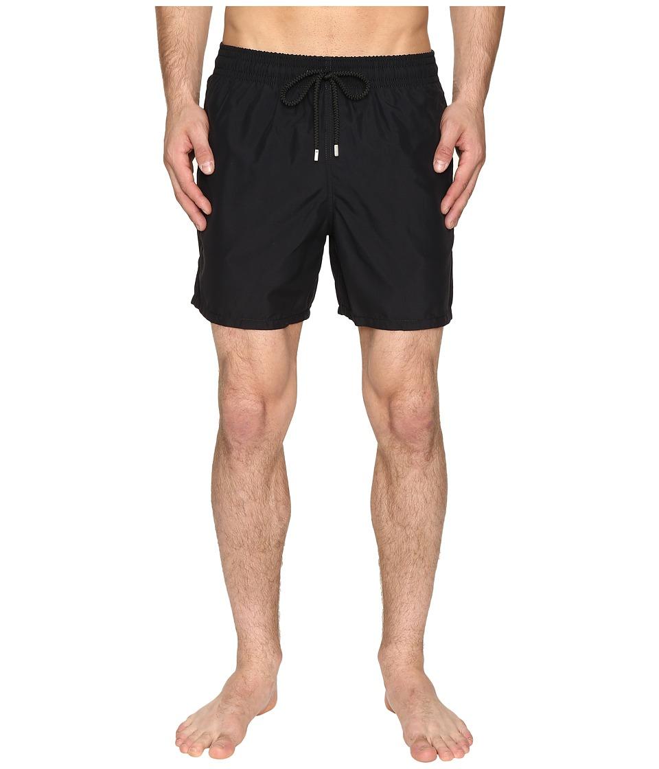 Vilebrequin Moorea Classic Solid Swim Trunk (Black) Men