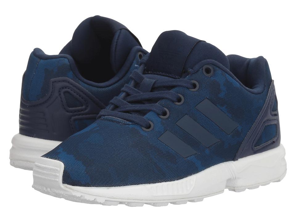 adidas Originals Kids ZX Flux (Little Kid) (Collegiate Navy/Collegiate Navy/Footwear White) Boys Shoes