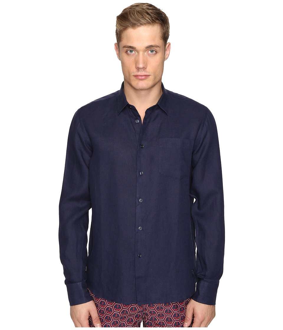 Vilebrequin Vilebrequin - Linen Long Sleeve Button Up