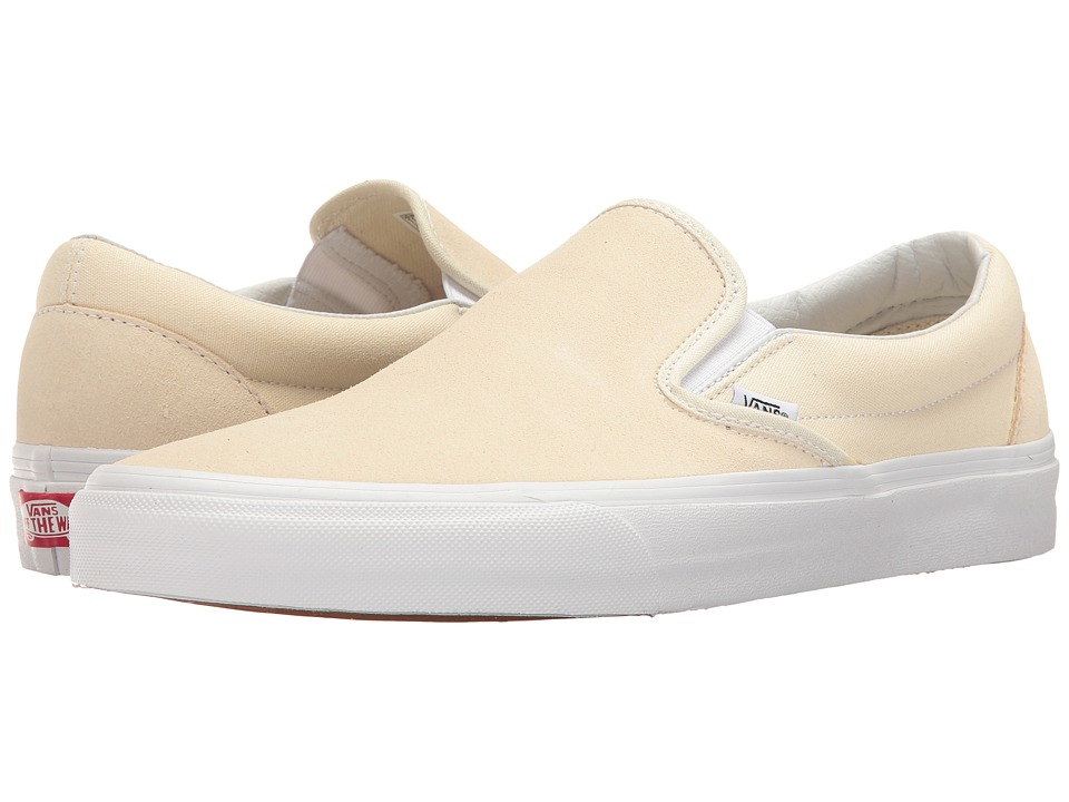 Vans Classic Slip-On ((Suede/Canvas) Afterglow/True White) Skate Shoes