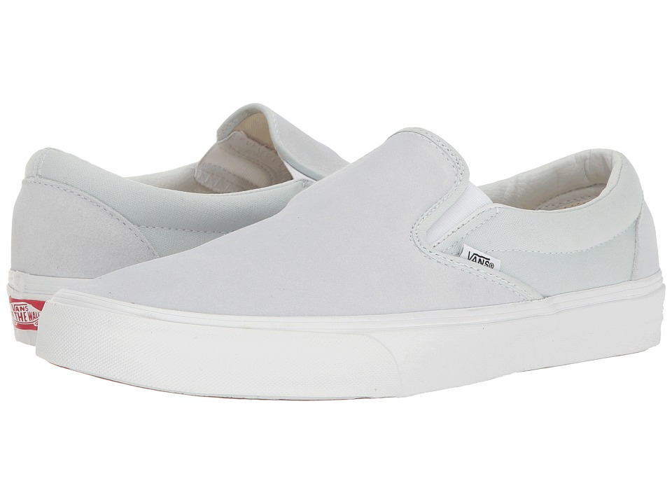 Vans Classic Slip-On ((Suede/Canvas) Illusion Blue/True White) Skate Shoes